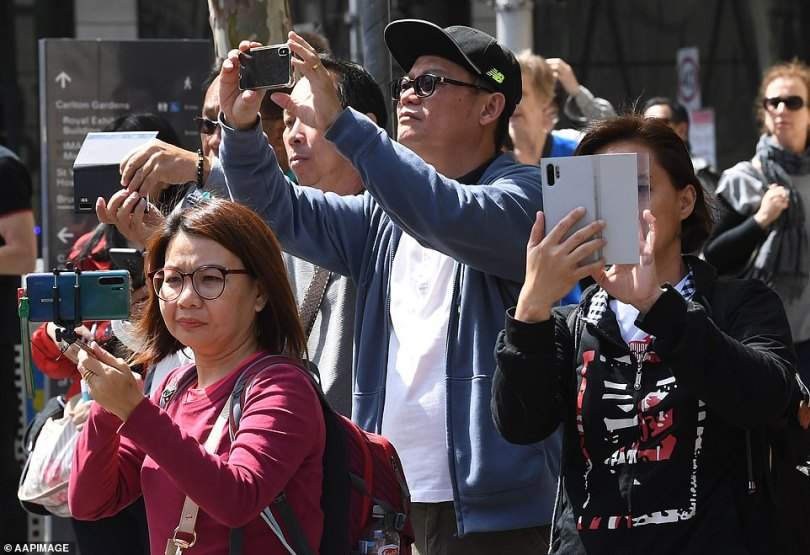 As the march went through the streets of Melbourne, onlookers had the opportunity to watch on and record the protest