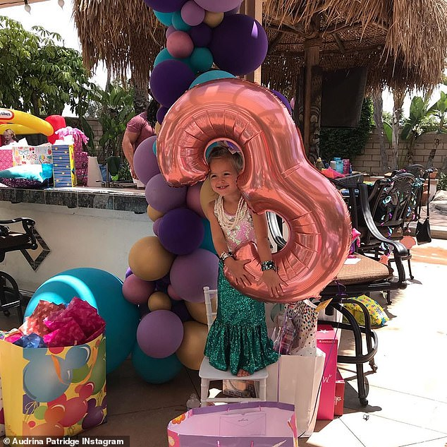 So cute: Kirra had a mermaid themed birthday party on July 1; she turned three on June 24