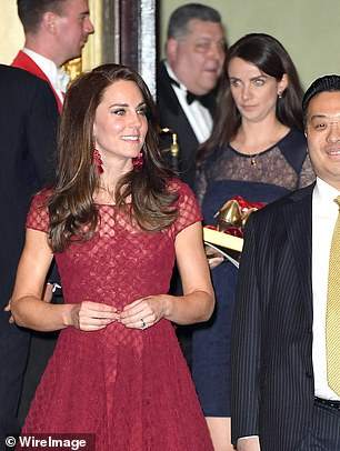 The Duchess of Cambridge and Sophie Agnew at the opening of 42nd Street in London