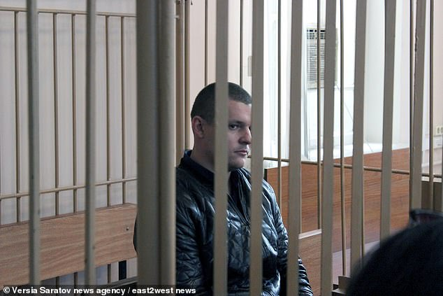 Roman Krasnyuk, 27, appearing at court.An Interior Ministry spokesman said that if the police officers are found guilty they will be fired from the service