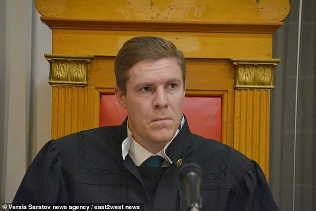 Judge Alexander Yermolaev at the court inSaratov, south west Russia. In the event of the men being convicted, their superiors will also face 'strict disciplinary measures'