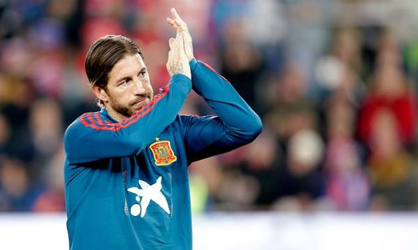 Ramos becomes Spain