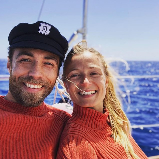 The father of James Middleton's French fiancee has revealed his joy at the couple's engagement, saying: 'It's a genuine love story'. Pictured are James Middleton andAlizee Thevenet