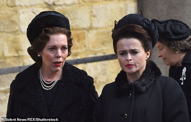 True, the Princess has been dead for 17 years but that proved no obstacle for actress Helena Bonham Carter, who says she asked the Queen¿s late sister for some acting tips just the other day. Ms Carter is pictured above with Olivia Colman in The Crown