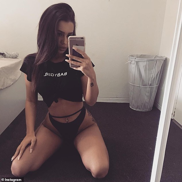 The crime is set to come as a shock to Attie's social media followers, where she regularly posts a series of selfies in expensive lingerie (pictured) or of her lavish lifestyle