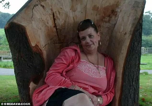 In her late 30s (pictured above) Miss Wall was obese and started to feel depressed with how she looked