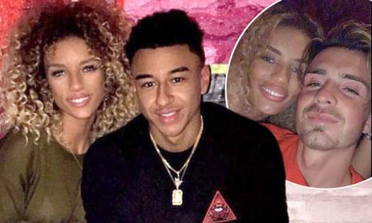 Jesse Lingard's model ex cosies up to football rival Jack ...