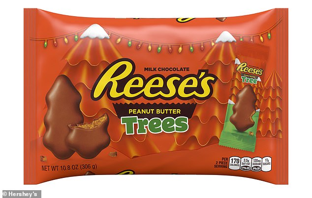 Ditched: It's the first new holiday shape in 20 years as Reese's moves away from its tree-shaped peanut butter cups