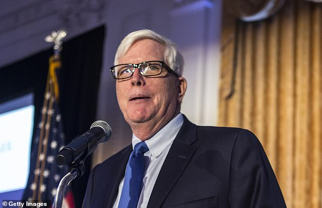 Conservative radio talk host Hugh Hewitt (pictured above), who called for a regulatory crack down on 'big tech bias' against conservatives, also was among the pundits who met with Zuckerberg