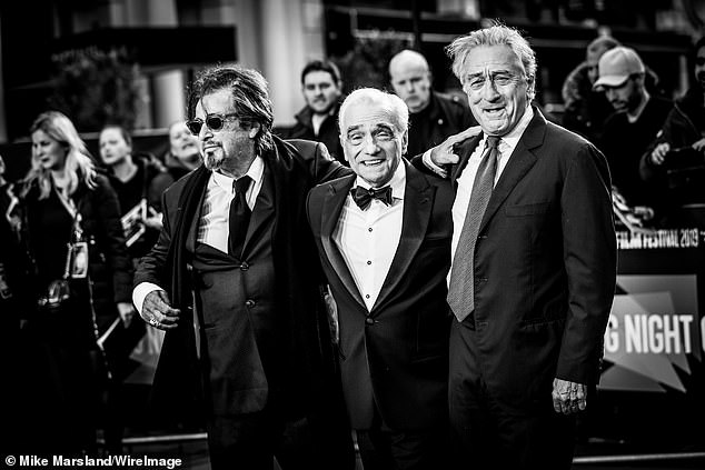Al Pacino, Martin Scorsese and Robert De Niro attend The Irishman International Premiere and Closing Gala during the 63rd BFI London Film Festival at the Odeon Luxe Leicester Square on October 13, 2019 in London, England