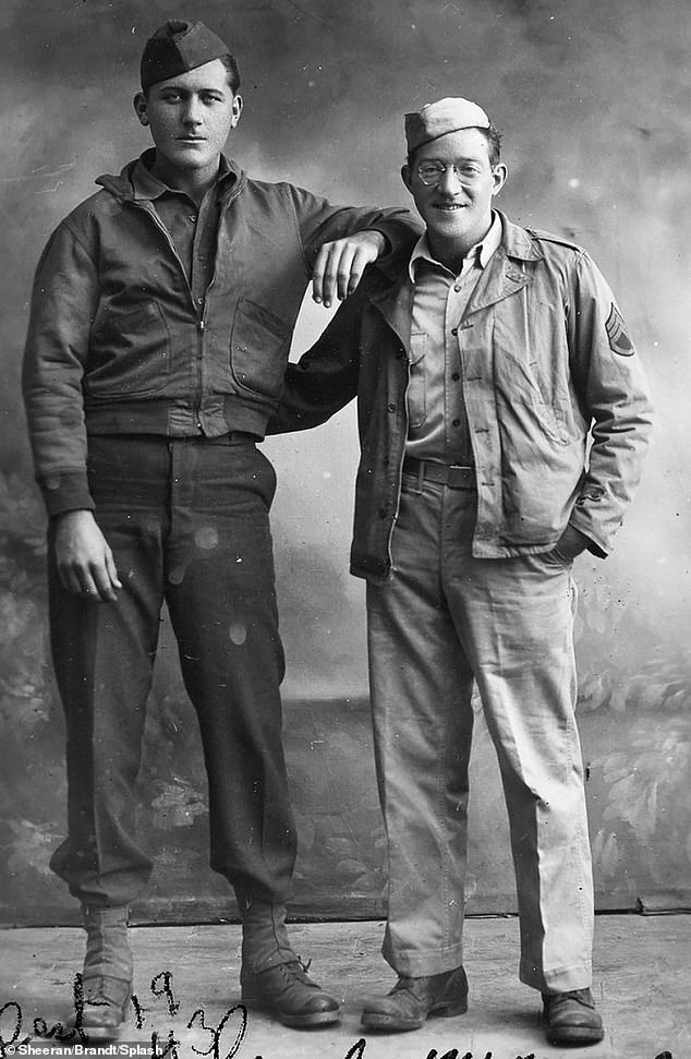 Frank Sheeran (left) with war buddy Alex Siegel one month before Siegel was killed in action during the Salerno invasion