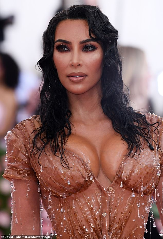 Nod to Sophia: Kim turned heads in her skintight Thierry Mugler dress, which was a nod to Sophia Loren in the 1957 film Boy on a Dolphin