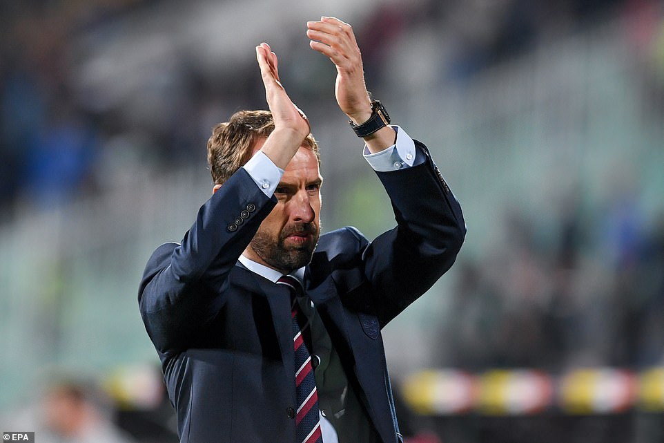 At the end of the match after England's comfortable 6-0 win, manager Gareth Southgate headed to the England fans and applauded them