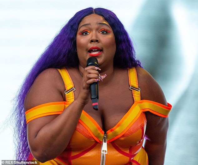 Hit song: Truth Hurts by Lizzo, shown last week performing in Texas, dropped to number two after spending six week at number one on the Billboard Hot 100 chart