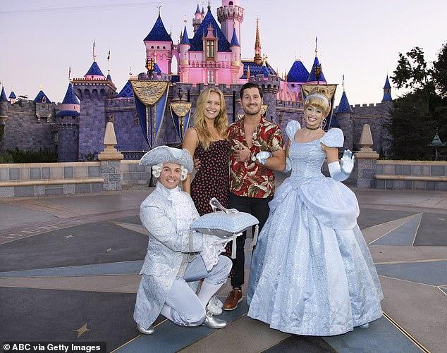 Disney trip: The daughter of Christie Brinkley and Valentin Chmerkovskiy met up with Cinderella during a trip to Disneyland