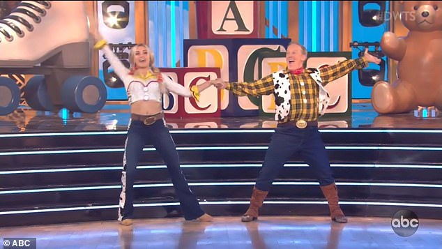 Quickstep dance: Lindsay and Sean performed a joyous quickstep to Toy Story's You've Got A Friend In Me