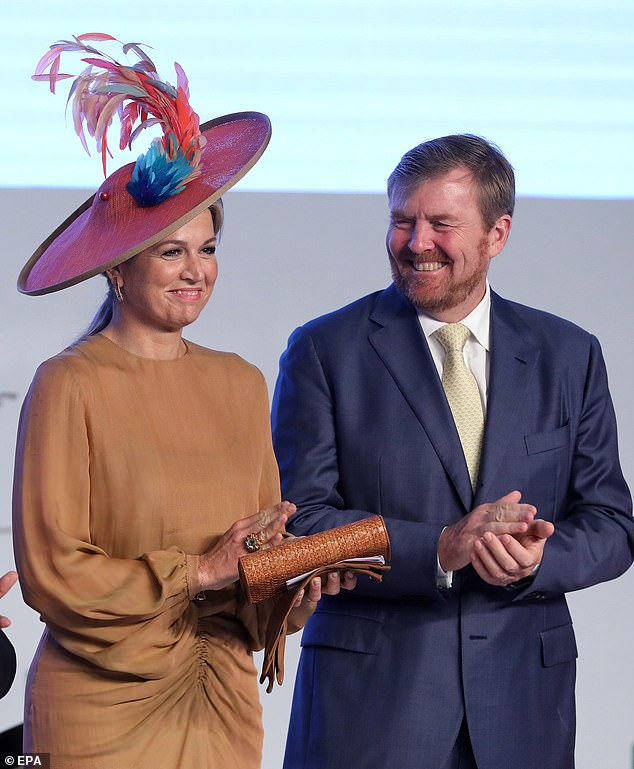 The royal couple appeared in high spirits as they celebrated the inaugural session of the Technology Summit oragnised by Confederation of Indian Industry (CII)
