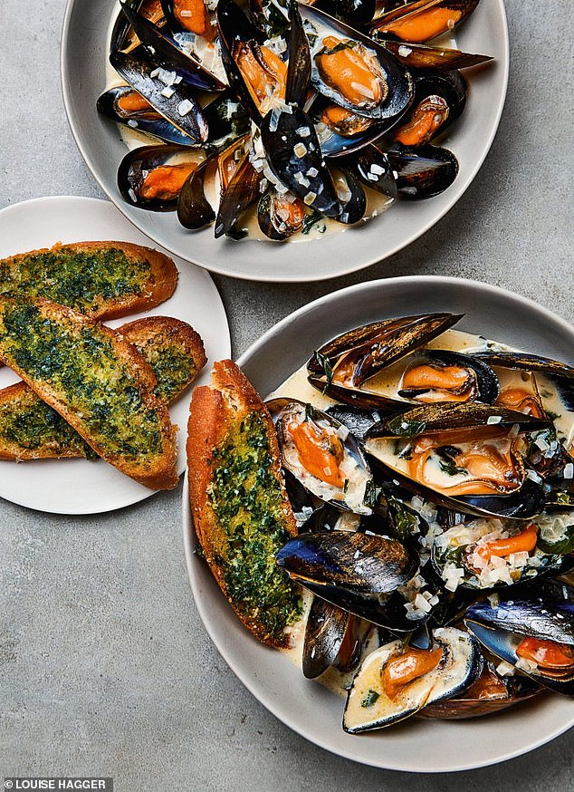 This scrumptious moules marinere with wild garlic toasts dish is perfect for a filling dinner
