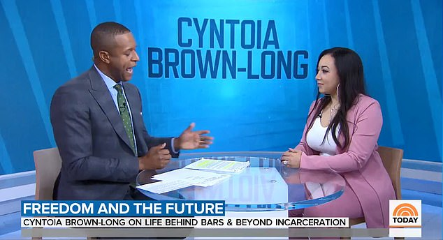 Brown discussing her new memoir on Today on Tuesday morning. She was released from prison in August