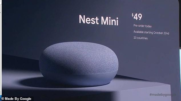 The Nest Mini will retail at just $49 and go on sale October 22, though pre-orders are available now