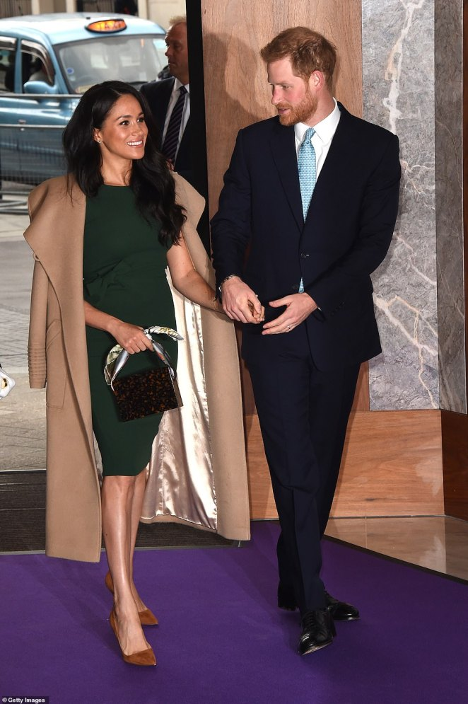 Prince Harry and Meghan Markle arrived at the WellChild awards at Royal Lancaster Hotel on Tuesday night hand in hand