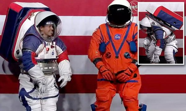 NASA debuts two new space suits for the 2024 mission to the moon