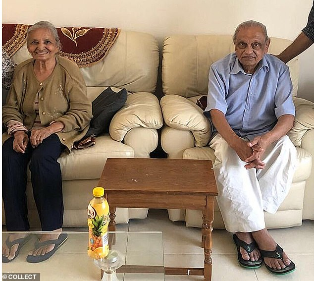 In 1987, Ashok, his wife, Lalitaben (pictured together), and his three sons came to England