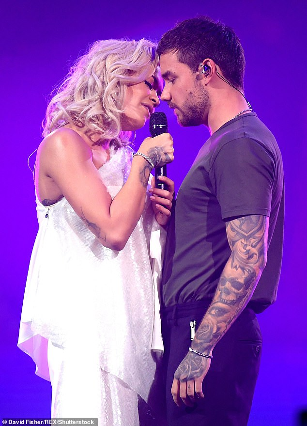 Smash hit: The media personality's hit single For You featured fellow musician Rita Ora (pictured performing the single in October last year)