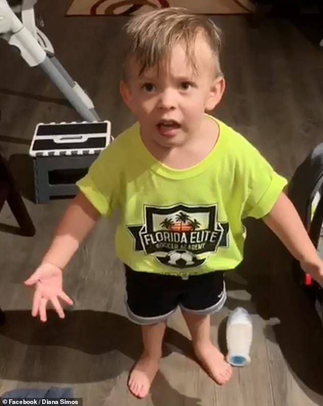 Two-year-old Alexander Simos of Florida has gone viral for his adorable rant where he was left in disbelief when his mother left for work without kissing him goodbye