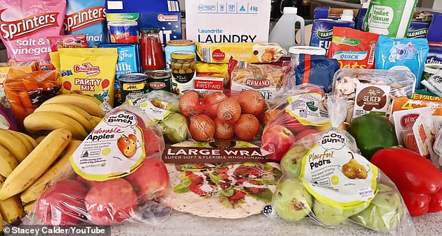 A thrifty mother has shared her incredible grocery haul after spending just $190 to feed her family-of-six for a fortnight
