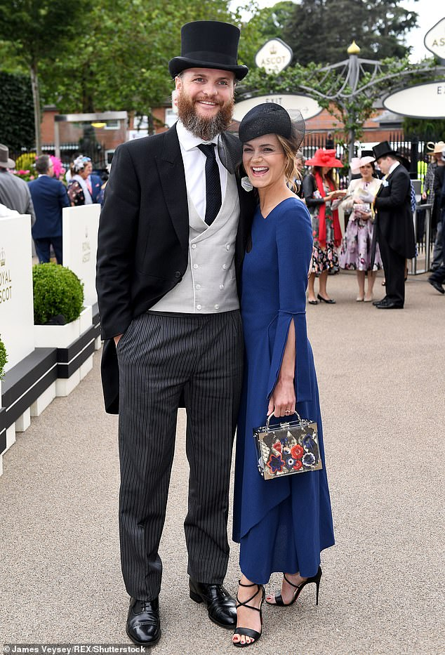 Loved-up: Kara - who keeps her personal life relatively private - recently revealed she and fiance Marius Jensen are toying with the idea of getting married next year (pictured in June 2019)