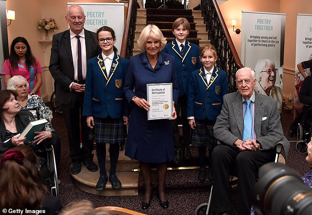 The royal beamed as she presented certificates to the old and young participants of the Poetry Initiative