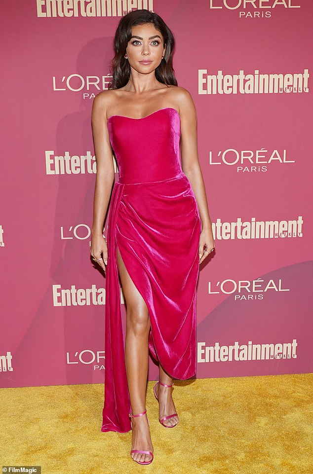 All grown up: Sarah Hyland is all grown up now since the 90s film. She is pictured above at the Entertainment Weekly Pre-Emmy Party back in September