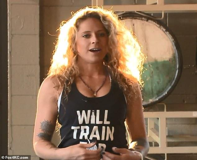New practice: Amanda Kauffman lead a rage yoga class in Kansas City, Missouri, at a brewery