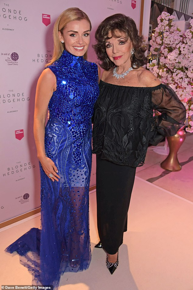 Katherine Jenkins and Dame Joan Collins also attended the Lady Garden Gala 2019 at Claridge's Hotel