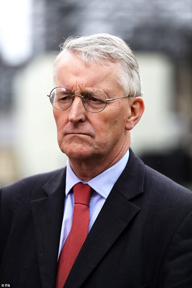 The committee's chairman is Hilary Benn (pictured), one of Brussels' useful idiots, who recently passed a law to stop us leaving Europe without a deal. He greeted Mr Barclay in the corridor outside with undiluted enthusiasm. Clearly, he couldn't wait to get stuck in