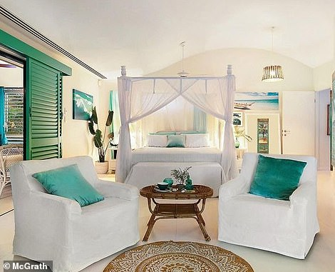 And while Kerrie and Paul still work in the city of Brisbane - which is a 35 minute drive away - they say there is little they miss about city life when they compare it with that of Havana (one bedroom pictured)