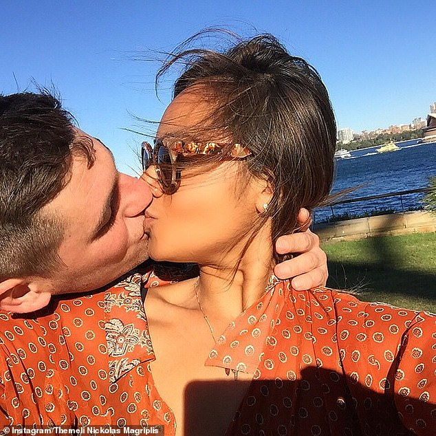 Future plans: Jessica Mauboy and Themeli Magripilis (pictured) got engaged during a recent holiday in Greece