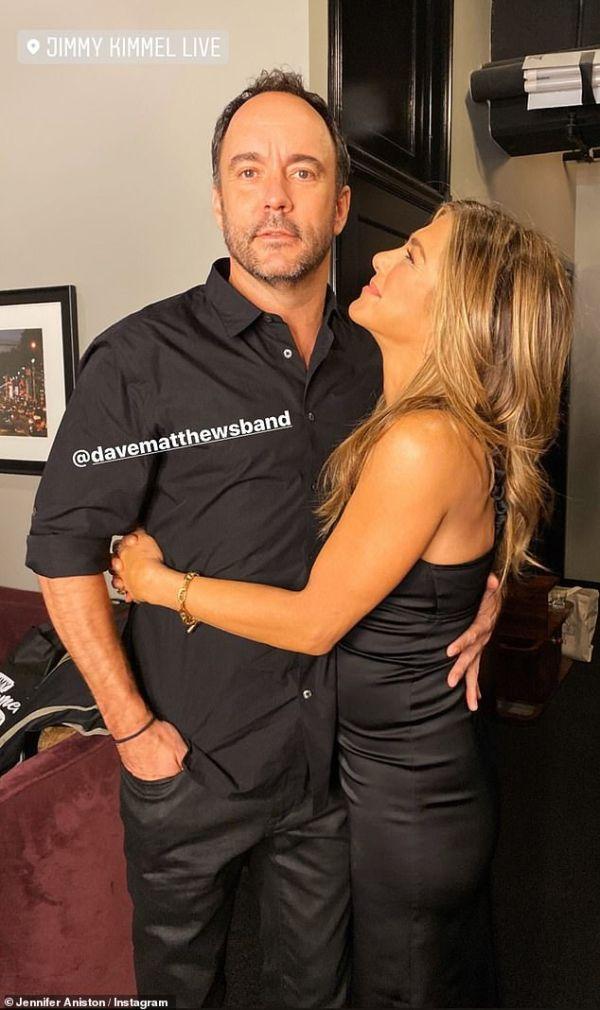 Jennifer Aniston cuddles up to Dave Matthews in new Instagram pics