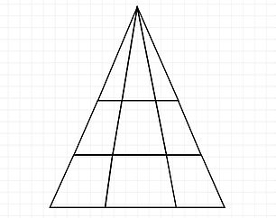 Eye experts at online contact lens seller Lenstore created the ten-question quiz. Quiz takers needed to work out how many triangles were hidden in this shape