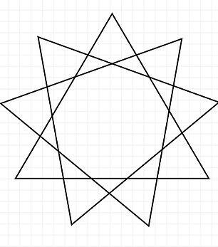Quiz takers were asked to work out how many triangles they could see in this shape