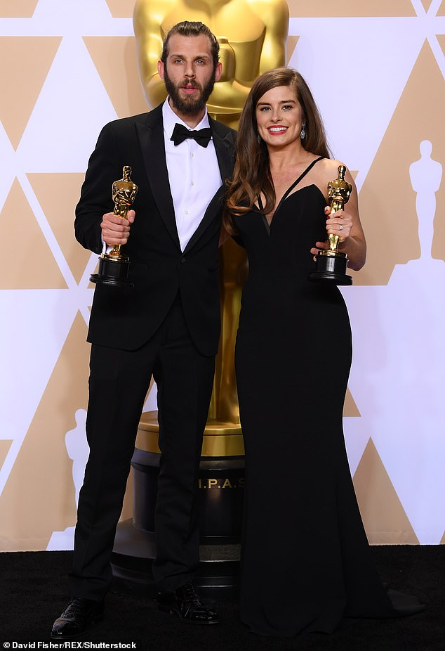 Success: Rachel, pictured with Chris Overton, won a best live action short film Oscar in 2017 for The Silent Child, which she wrote and starred in