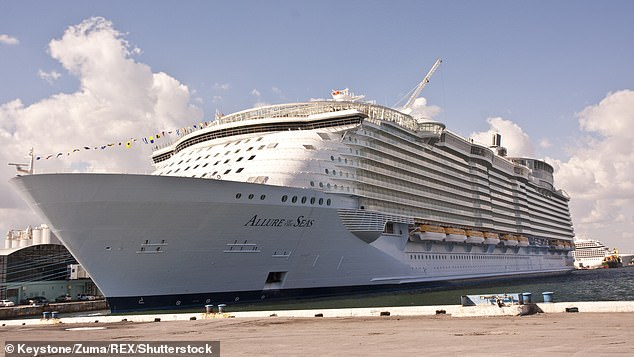The woman was on board Royal Caribbean cruise ship Allure of the Seas when she put her life in danger for the sake of a photo (stock)