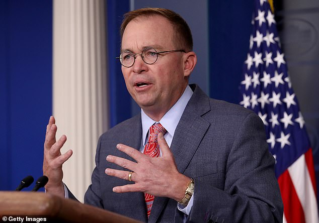 'The look back to what happened in 2016 certainly was part of the thing that [Trump] was worried about in corruption with that nation. And that is absolutely appropriate,' said Mulvaney, confirming that the president ordered $390 million in Ukraine held up over the probe of the U.S. elections