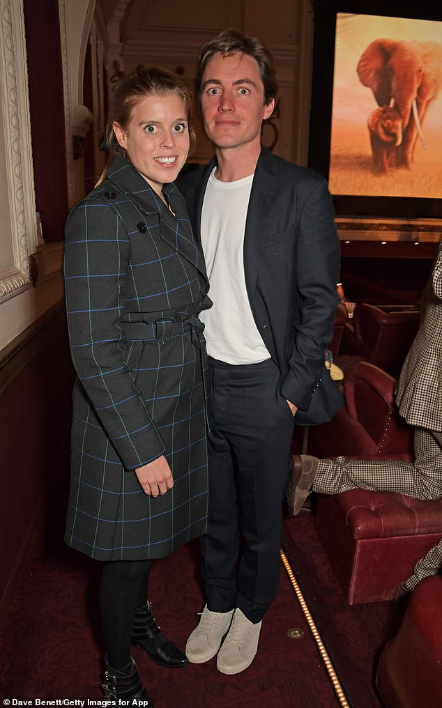 The couple were also joined by Princess Beatrice, 31, and Edoardo Mapelli Mozzi, 36, who announced their engagement mere weeks before James and Alizee