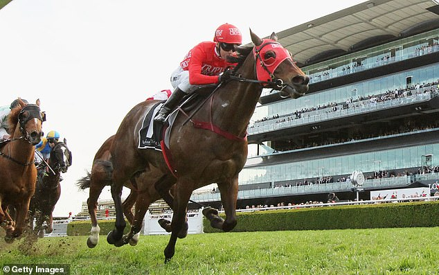 Redzel powers to the line in his trademark front-running style to take out The Everest in front of the packed grandstands at Royal Randwick.