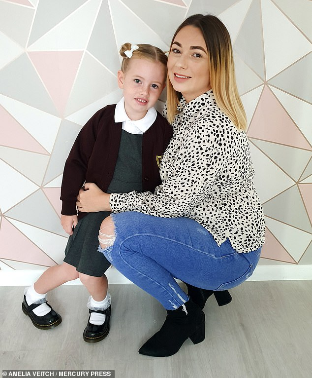 The illness has left Ms Veitch struggling to take care of her daughter, Ava-Grace, five, at times