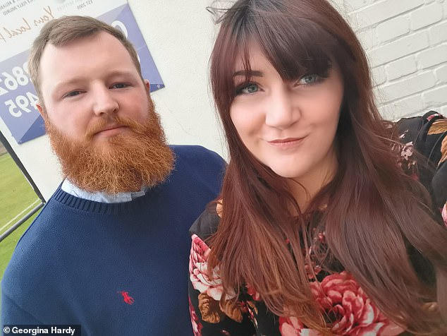 Ms Hardy, from Clacton-on-Sea, Essex, is now campaigning for greater awareness of the risks involved with being overdue.. The couple are pictured together