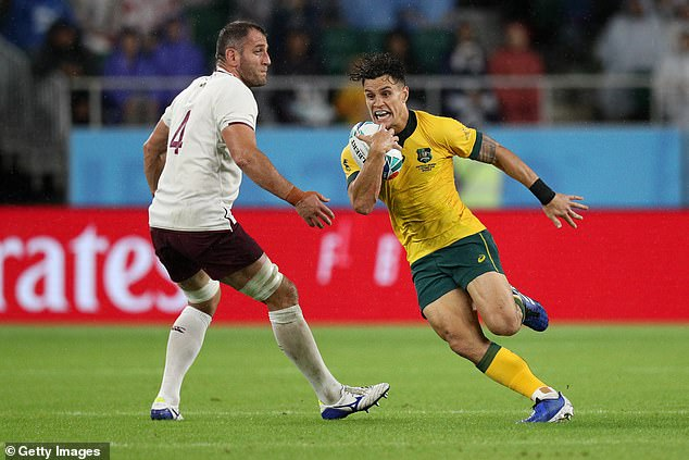 Wallabies reserve To'omua made the joke ahead of Saturday's quarter-final tie against England