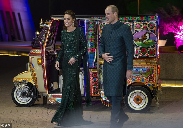 Six Pakistani government ministers walked out of a reception with Prince William and Kate Middleton on Tuesday